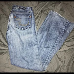 ROCK & REPUBLIC Motley Bootcut Denim Jeans Sz 28